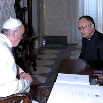 P. Spadaro con Papa Francesco