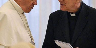 Federico Lombardi con Papa Francesco