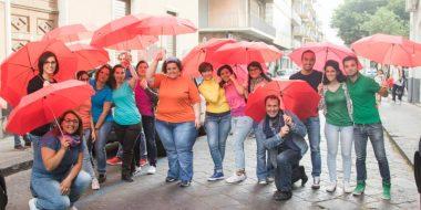 Catania. Flash mob e ombrelli rossi contro l'esclusione sociale