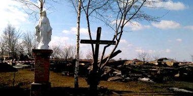 Il rogo della chiesa di legno