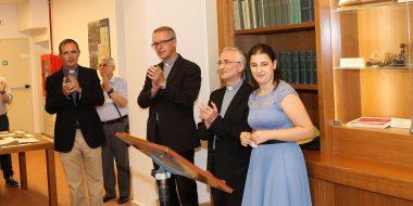 p. Gianfranco Matarazzo SJ, Mons. Renzo Giuliano e la dott.ssa Maria Macchi all'inaugurazione dell'Archivio Storico della Provincia Euro-Mediterranea