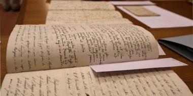 Dettaglio di un documento conservato nell'Archivio Storico della Provincia Euro-Mediterranea