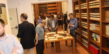 Documenti in mostra all'inaugurazione
